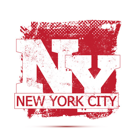 athletic wear: College New York typography, t-shirt graphics, vectors Illustration