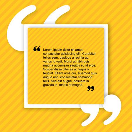 Citeren creatieve citaat Typographical Poster Template. Lichtgele kleur versie. Voor uw commercieel project of persoonlijk gebruik.