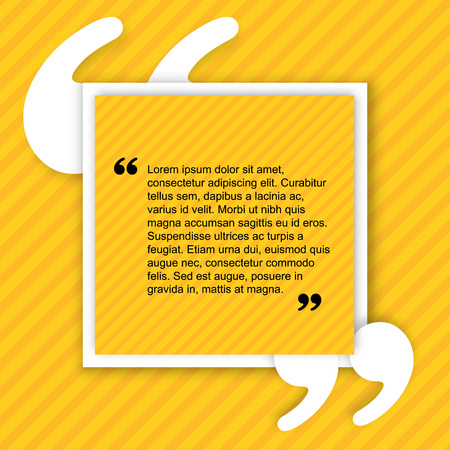 citation: Quote creative citation Typographical Poster Template. Light yellow color version. For your commercial project or personal use.