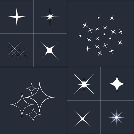 scintillation: Big collection of sparkle vector. Sparkles white symbols. Sparkle star. Symbols sparkling stars. Set of sparkles star. Sparkles icon. Sparkles set. Sparkle light. Sparkling stars. Easy to use. Illustration