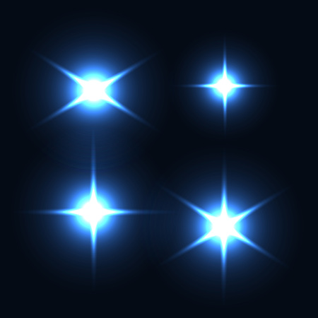 light reflex: Collection of light effect.s Optical lens flare, flash, stars particles. Vector illustration. Illustration