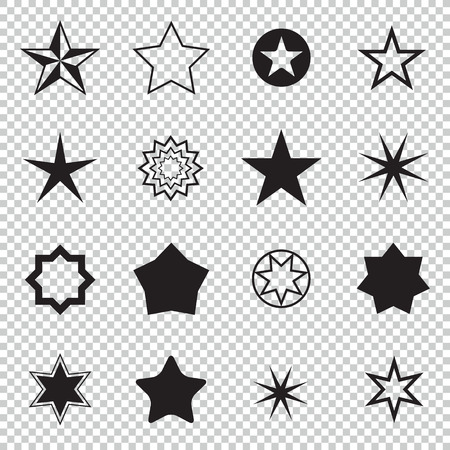 a collection of awards icon: Star pictogram. Set star icons. Concept rating, success, awards. Collection star pictogram. Colored star shape. Simple icon star. Isolated star symbol. Easy to use for project. Illustration