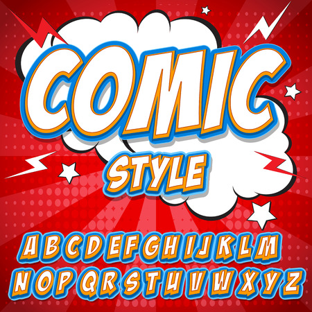Comics alphabet. Comics alphabet vector. Comics alphabet art. Comics alphabet web. Comics alphabet set. Comics alphabet abc. Comics alphabet color. Comics alphabet image Ilustração