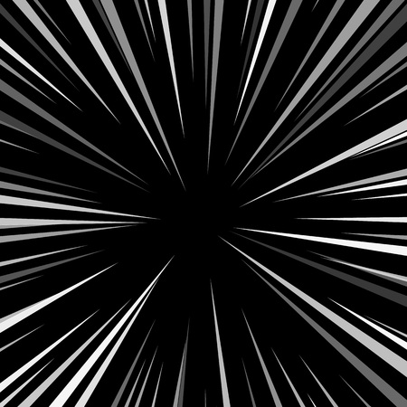 blowup: Comic book explosion superhero pop art style black and white radial lines background. Manga or anime speed frame.