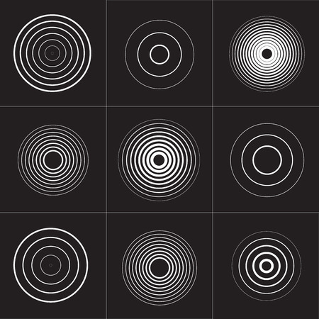 ring tones: Collection of sound vector symbol Isolated. Vector illustration.