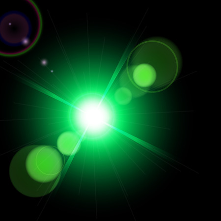 fleck: Abstract optical lens flare glare lights super high resolution. Lighting effects of flash. Easy to use Illustration