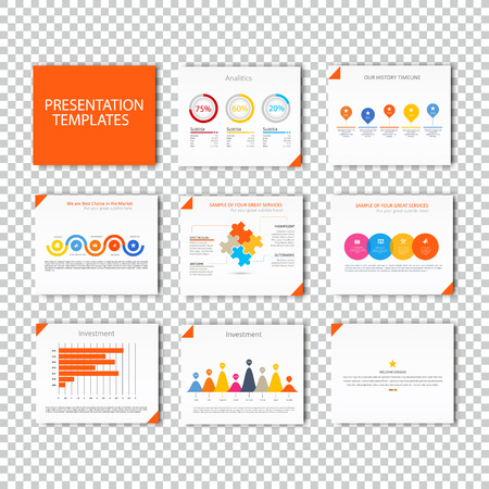 keynote: Multipurpose template for presentation slides with graphs and charts - orange color version. Perfect for your business report or personal use.
