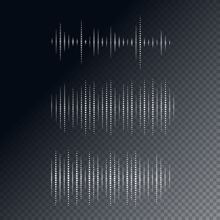waveform: Collection of waveform. Vector illustration for club, radio, party, concerts or the audio technology advertising background. Easy to use. Illustration