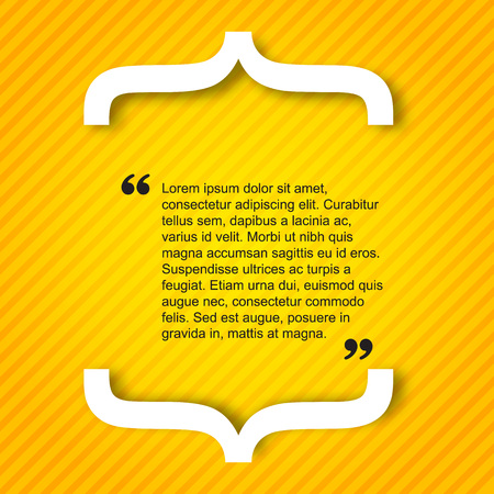 Quote citation Typographical Poster Template. Light yellow color version.