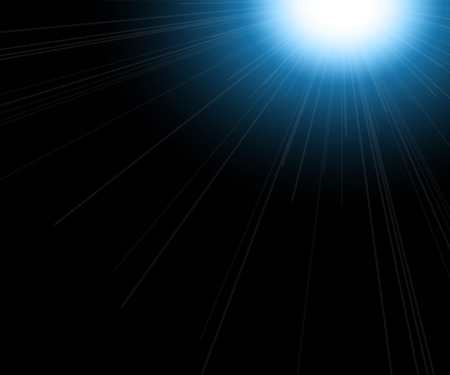 light reflex: Abstract light flare background, beautiful rays of light. Vector illustration Illustration