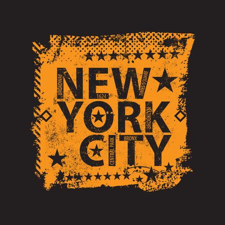 Vintage New york city  shirt. Vector illustration Illustration