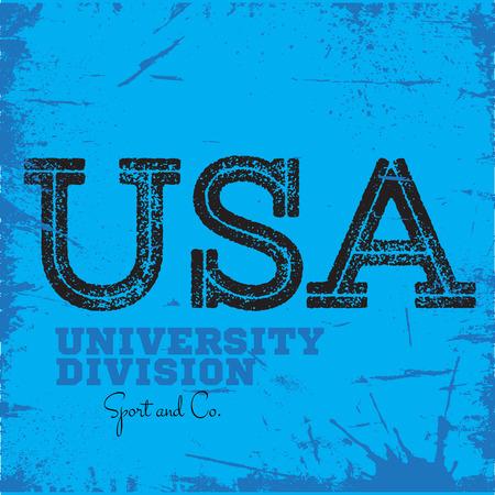 varsity: Varsity college university division team sport label typography, t-shirt graphics for apparel