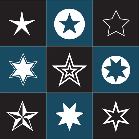 recap: Collection star pictogram. Easy to use and edit Illustration