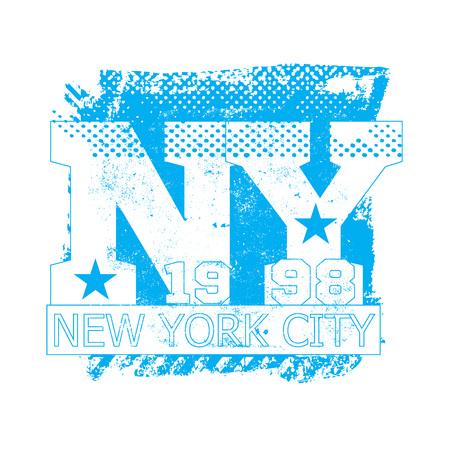 bronx: College New York typography, t-shirt graphics, vectors Illustration