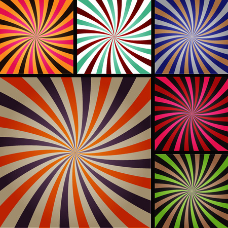 Comic book explosion superhero pop art style colored radial lines background. Manga or anime speed frame. Illustration