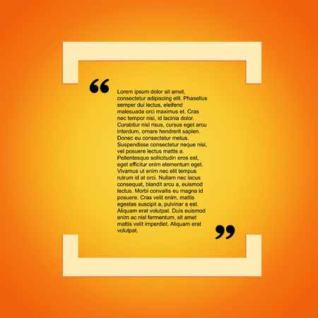 citation: Quote citation Typographical Template, vector design. Light yellow color version. For your commercial project or personal use.