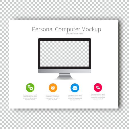 Infographic Mockup device Personal Computer Presentation Template, Business Layout design , Modern Style , Vector design illustration.