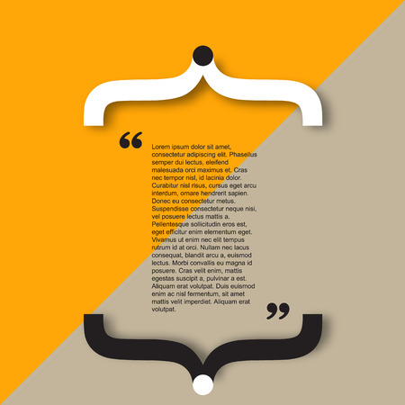 citation: Quote citation Typographical Template, vector design. Light color version.