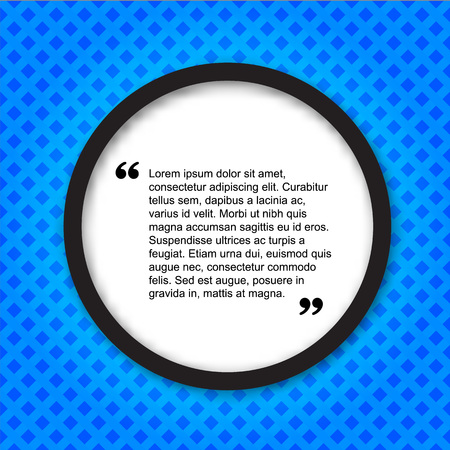 citation: Quote creative citation Typographical Poster Template. Light blue color version. For your commercial project or personal use.