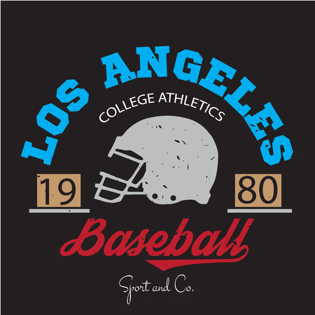 Los angeles athletic champions college varcity baseball football , emblem, sign. Vector Graphics and typography t-shirt design for apparel. Very easy to use.