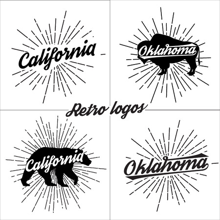 集はベクトル レトロな t シャツです。スポーツ ベクトル グラフィックスとアパレルのタイポグラフィ t シャツ デザイン。  イラスト・ベクター素材