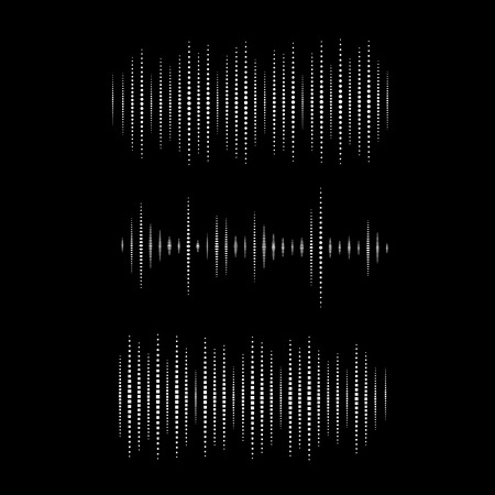 sonic: Collection of waveform. Vector illustration for club, radio, party, concerts or the audio technology advertising background. Easy to use. Illustration