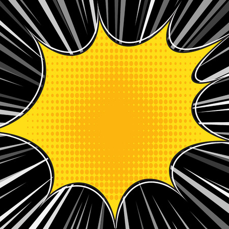 blowup: Comic book explosion superhero pop art style radial lines background. Manga or anime speed frame.