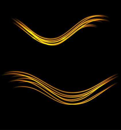 semitransparent: Magic glowing light swirl trail trace effect on black background. Glitter fire spark wave lines with flying sparkling flash lights. Easy to use.
