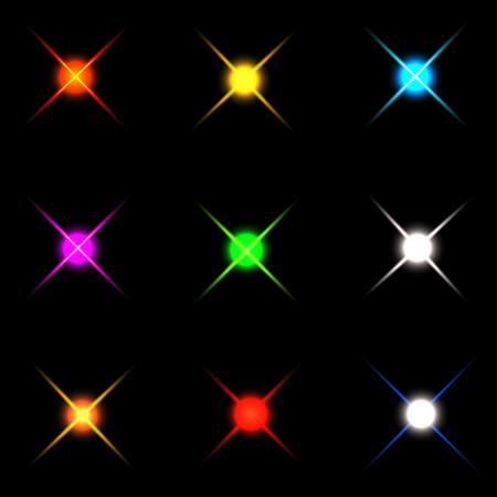 Collection of sparkle vector. Sparkles colored symbols. Sparkle star. Symbols sparkling stars. Set of sparkles star. Sparkle light. Sparkling stars. Easy to use. Illustration