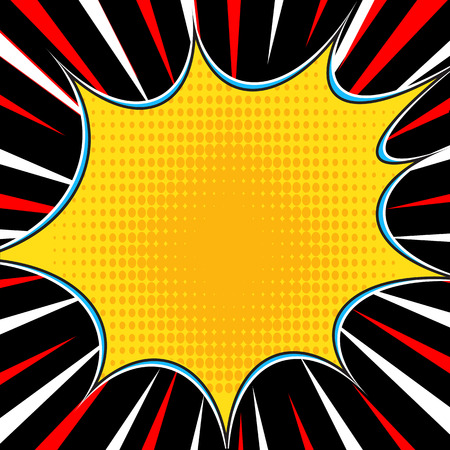 Comic book explosion superhero pop art style radial lines background. Manga or anime speed frame.