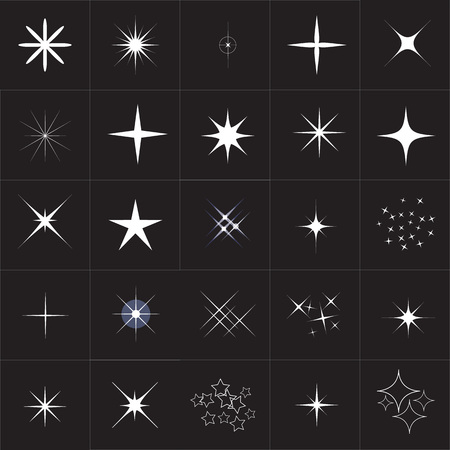 scintillation: Big collection of sparkle vector. Sparkles white symbols. Sparkle star. Symbols sparkling stars