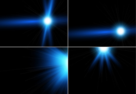 resplandor: Colección de reflejo de la luz realista, lo más destacado. Colección de bellos destellos brillantes.