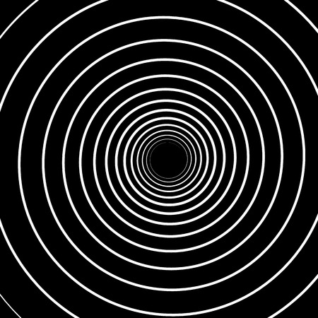 hypnotise: Concentric Lines. Spiral Background. Volute Hypnosis Circular Rotating Background. Illustration