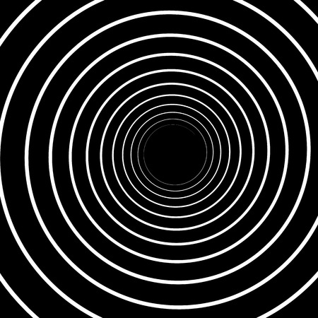 hypnotise: Concentric Lines. Spiral  Volute Hypnosis Circular Rotating Illustration