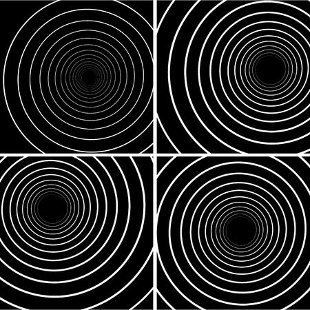 hypnotise: Collection of concentric Lines. Spiral Background. Volute Hypnosis Circular