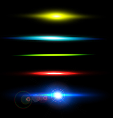fleck: Collection of beautiful bright lens flares. Lighting effects of flash. Easy to use