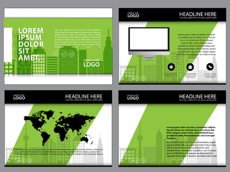 Business Template design set Presentation and brochure Annual report, flyer page with infographic element Illustration