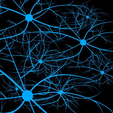 인간의 신경 세포. 스트랜드 분자 구조. 유전 및 화학 화합물.