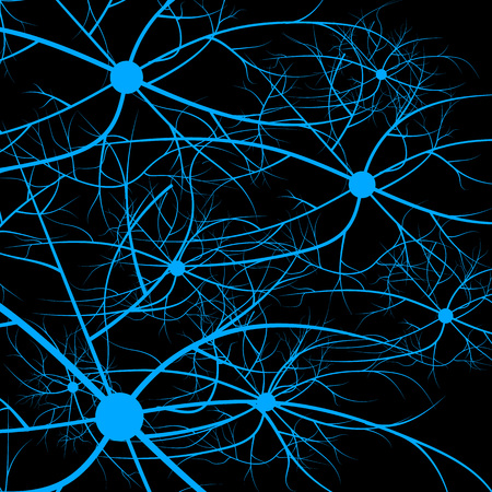 Nerve cells of the human. Strand molecule structure. Genetic and chemical compounds.