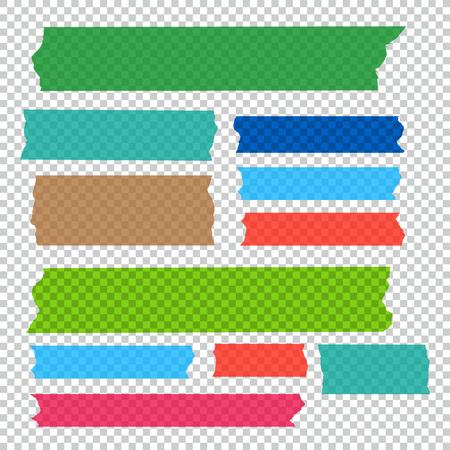 粘着テープ部分のベクトルのコレクション セット