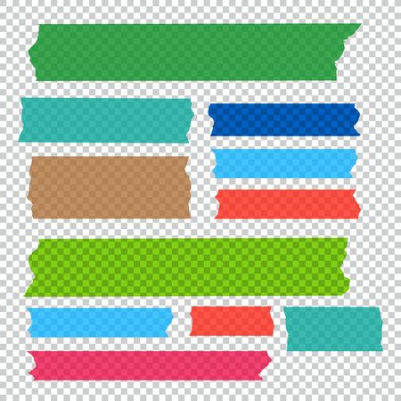 Verzameling van plakband stukken vector set Stockfoto - 78800726
