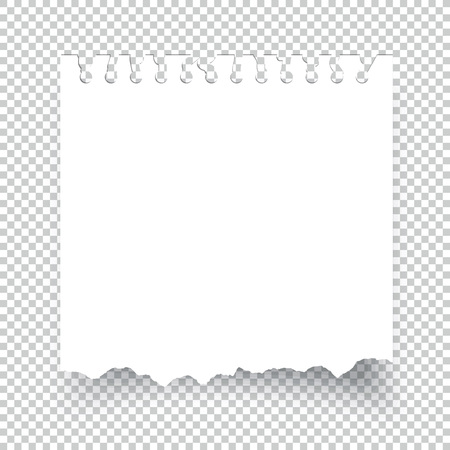 Sticky torn note paper isolated on transparent Illustration