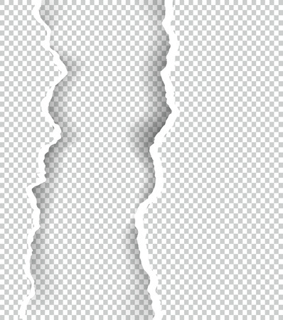 Ripped paper transparent with space for text, vector art and illustration. Фото со стока - 80832627