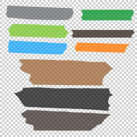 tear duct: Set of accept cross and different size adhesive tape. Illustration