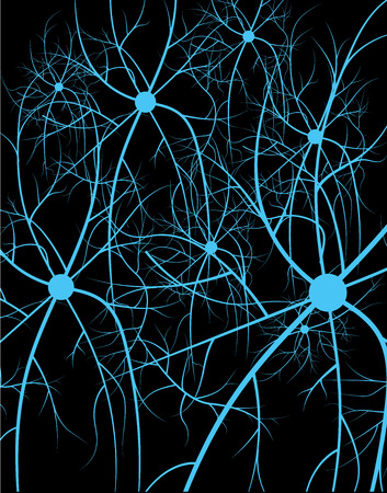 Nerve cells of the human. Strand molecule structure. Genetic and chemical compounds