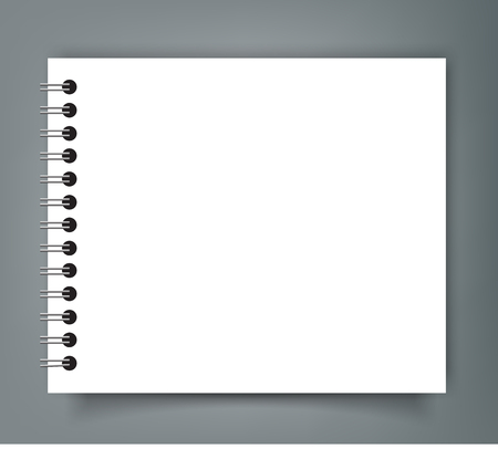 Lege vierkante notebook mockup omslagsjabloon. Stock Illustratie