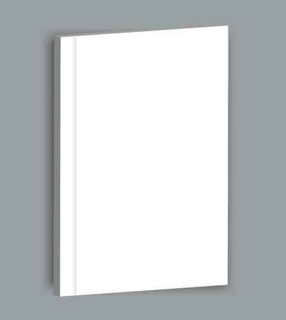 Hard cover blank realistic book, closed organizer or photobook mockup