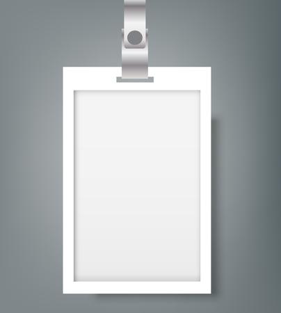 Blank Name Tags Mockup. Vector Illustration of Identity Card Badge mockup cover template Illustration