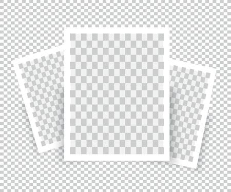 Realistic Blank Photo Frame brochure mockup cover template. Illustration