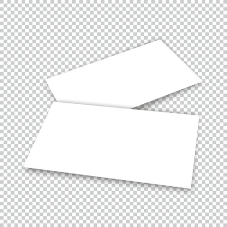 Business card with shadow mockup cover template. Illustration
